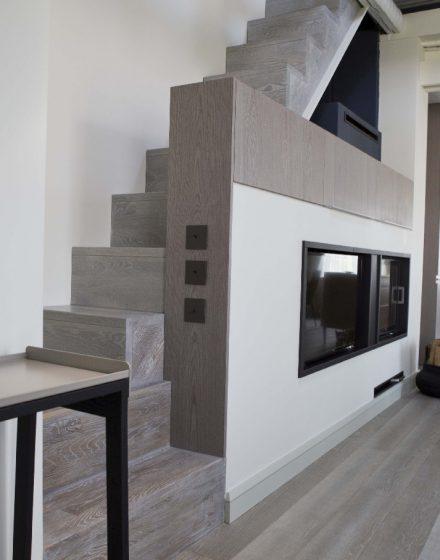 Ąžuolinė grindinė lenta AQUA, spalva 3408 Balta