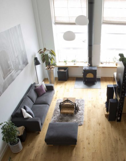 Medinės ąžuolinės grindys Bespalvė alyva 3305 Medžio stilius