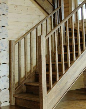 Mediniai ąžuoliniai masyvo laiptai: Juodmedis 3490 Medžio stilius