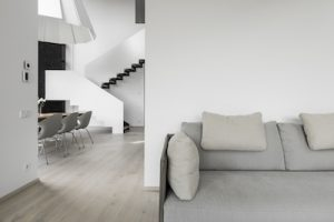 Ąžuolinė grindinė lenta, spalva Nordic