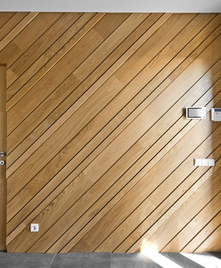 Mediniai ąžuoliniai laiptai, durys, deko siena: Bespalvė alyva 3305.