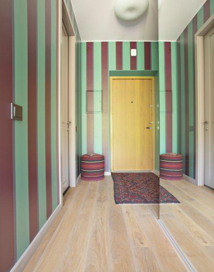Ąžuolinė grindinė lenta, spalva 3417 Pilka
