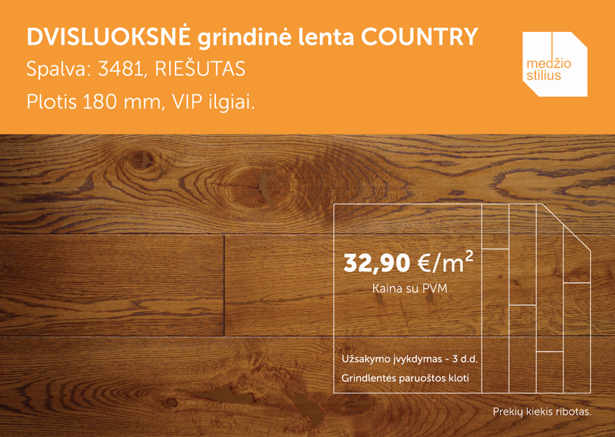 180 Country 3481 medinės grindys