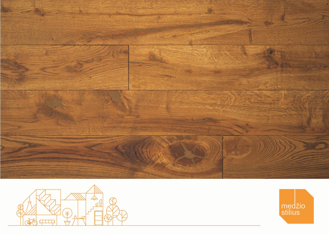 Unique proposal for oak flooring fans