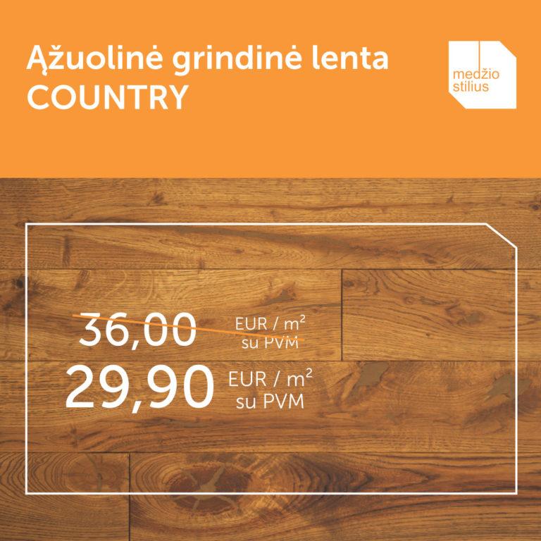medines grindys akcija 3481 COUNTRY 140 Medzio stilius