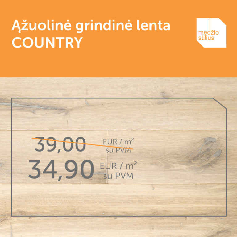 medines azuolines grindys IVORY-COUNTRY Medzio stiliu WEB