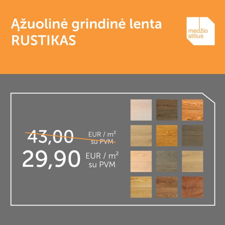 medines grindys azuolines sildomoms grindims akcija SAICOS RUSTIKAS 140 Medzio stilius WEB