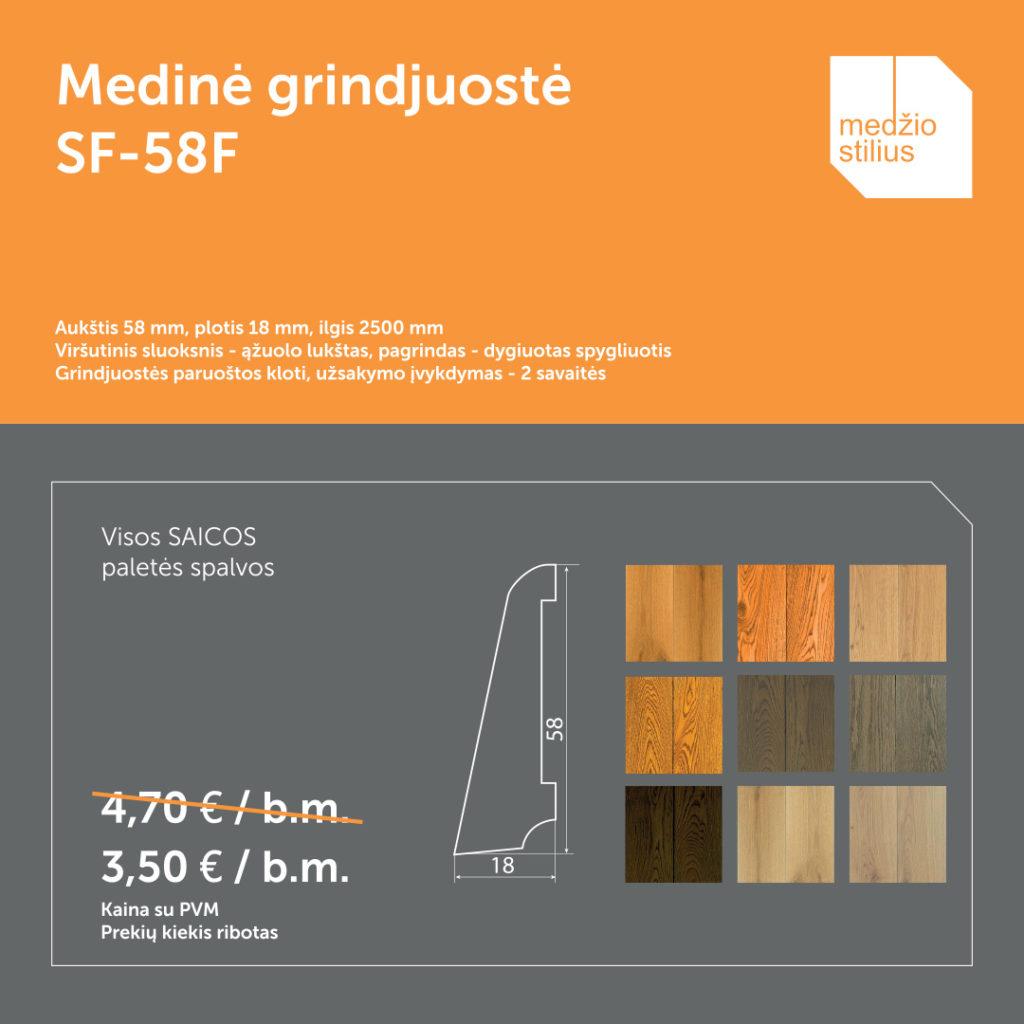 akcija pasiūlymas medinė Grindjuoste-SF58F Medžio stilius