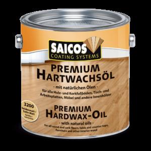 SAICOS Premium HardwaxOil (pusiau matinė), 2,5 l