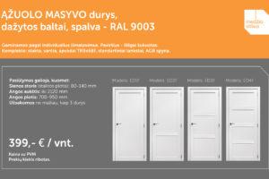 medines durys akcija pasiulymas RAL-9003 Durys Medzio stilius