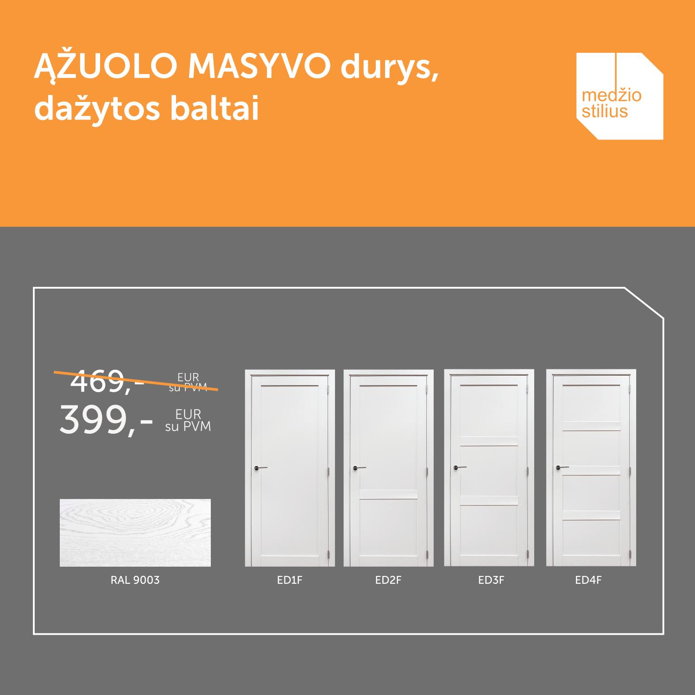 medines durys akcija RAL-9003 Medzio stilius FB