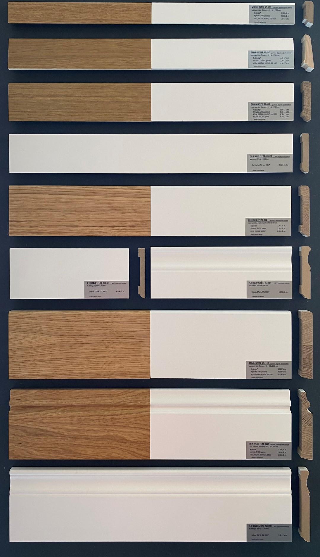medinės azuolines grindjuostes Medzio stilius