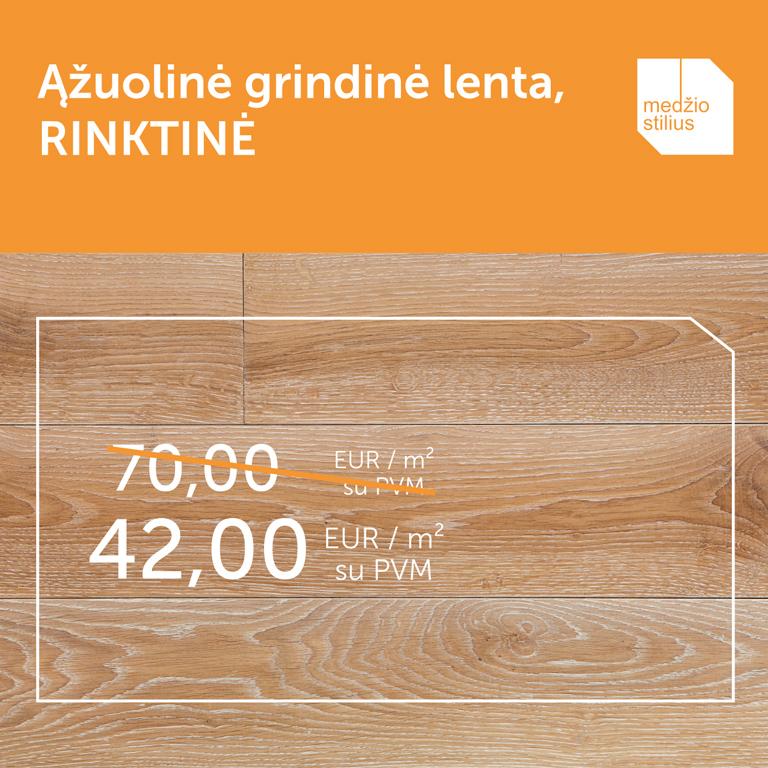 3408 RINKTINE medines grindys azuolines Medzio stilius