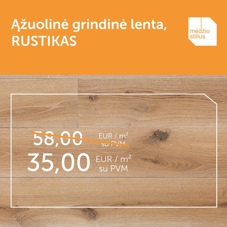 medines grindys azuolines Medzio stilius 3408 rustikas