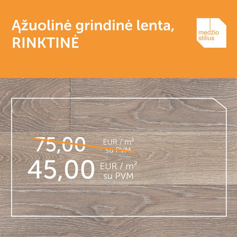 Q-3409 RINKTINE medines grindys azuolines Medzio stilius