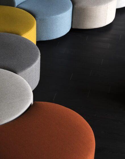 """Medinės ąžuolinės grindys: alyvuotos, """"Deep Black"""" spalva, E-5019."""